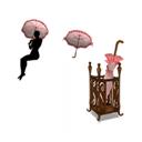 Magic Umbrella Set (Frill Pink)