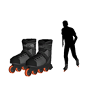 Locomotion - Inline Skates Set (Black, Women/Men)